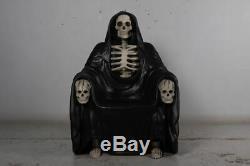 Grim Reaper of Death Throne Chair Halloween Display Prop Decoration
