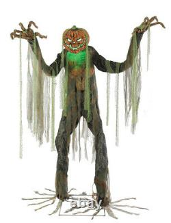 HALLOWEEN 7FT ANIMATED ROOT OF EVIL Jack O' Lantern SCARECROW HAUNTED HOUSE PROP