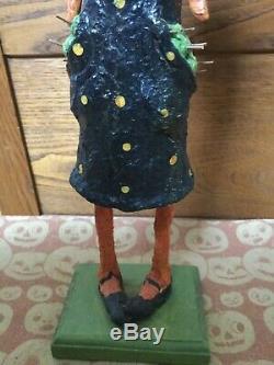 Halloween 17 Pumpkin Girl In Dotted dress Debra Schoch DDC piece