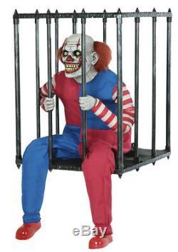 Halloween Animated Caged Clown Walk Around Prop Decoration