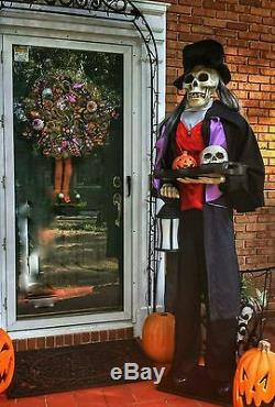 Halloween Animated Life Size Skeleton Butler Prop