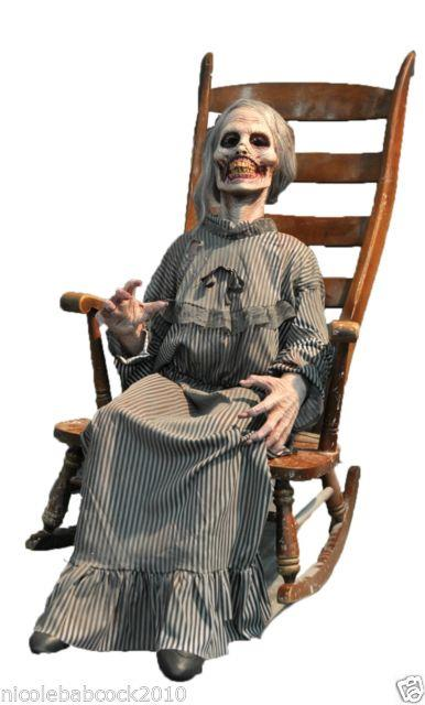 Halloween Animated Mother Am I Dead Or Alive Corpse Ridden Prop Haunted Decor