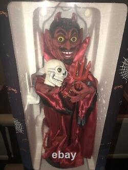 Halloween Animated WitchTime Devil 2ft Electric
