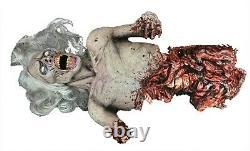 Halloween Animatronic Half Dead Corpse Prop Haunted House Decor = Free Step pad