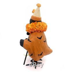 Halloween FANCY CROW Paper Mache Clown Bats Skull Staff Tj5323