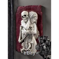 Halloween Flesh & Bone Skeleton Resin Hand Painted Wall Sculpture Haunted House
