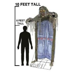 Halloween LifeSize 10' LOOMING GHOUL Animated Haunted House Archway Prop Outdoor