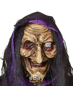 Halloween Life Size Animated Matilda Witch Black Cat Prop Haunted House