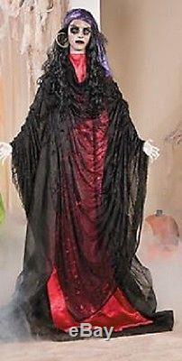 Halloween Life Size Gypsy Woman Flashing Eyes Prop Decoration Haunted House