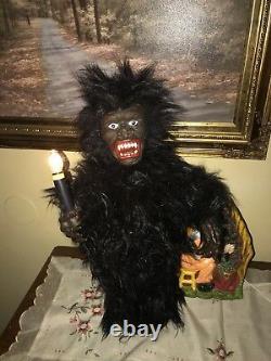 Halloween Motionette Top Stone Animated Gorilla/ Ape
