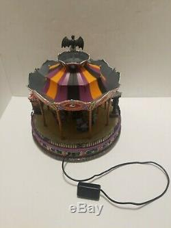 Halloween Spooky Scare Ousel 2007 Lemax Spooky Town Carnival Carousel AS IS