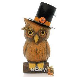 Halloween VINTAGE OWL Paper Top Hat Wisdom Bethany Lowe Tj4215