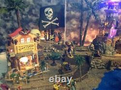 Halloween village display platform For Lemax Spookytown Pirates Dept56