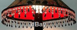 Hand-Painted OOAK Witches & Jack-O-Lantern Metal Witches Halloween Lamp