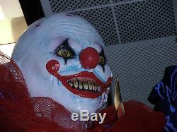 Hanging Shorty Evil Killer Clown Halloween Prop Decoration Latex Head & Hands