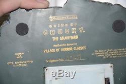 Hawthorne Village Horror Classics The Bride Of Chucky Graveyard Set