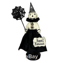 Heather Myers Pumpkinetta White Pumpkin Witch Girl Doll Halloween Decor Folk Art