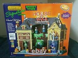 House of Wax Lemax RARE Spooky Town 2009 Halloween Collection Michael's RETIRED