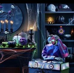 Hyde and Eek Animated DJ Skeleton Decorative Halloween Prop