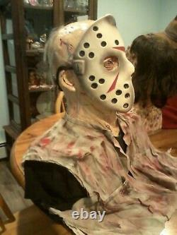 Jason Voorhees Lifesize Zombie Mannequin Horror Bust Halloween Prop Horror Prop
