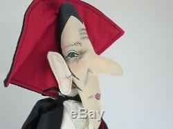 Joe Spencer Doll Halloween The Count, Dracula Vampire, Gathered Traditions 34.5