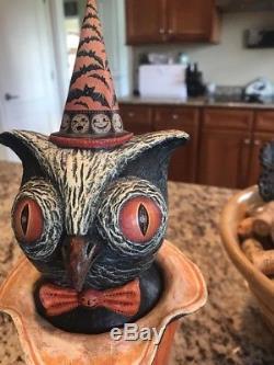Johanna Parker Original OOAK Halloween Owl- 2009