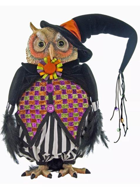 Katherine's Collection 14 Tricky Treats Halloween Witch Owl Doll New