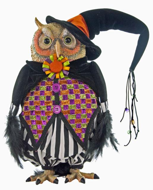 Katherine's Collection 14 Tricky Treats Halloween Witch Owl Doll New In Box