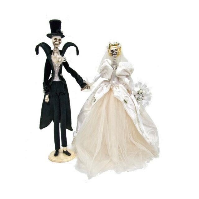 Katherine's Collection Bride/groom Dearly Departed Set Of 2