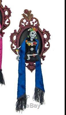 Katherine's Collection Frida Love Small Frame Day Of Dead Wall Hanging Blue