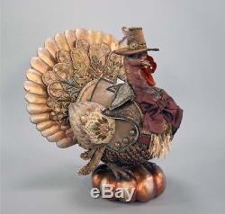 Katherine's Collection Gilded Season Tabletop Turkey Autumn Thanksgiving 20 NEW