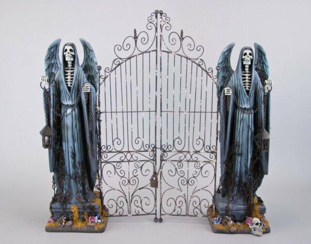 Katherine's Collection Halloween Grim Reaper 26 Cemetery Gate 28-728624 New