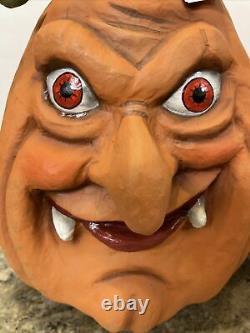 Katherine's Collection Halloween Haunted Pumpkin Heads Vampire Frankenstein Set