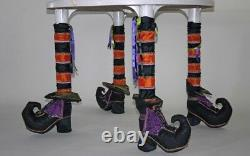 Katherine's Collection Set Of 4 Halloween Witch Table Leg Sleeves NEW 14-814226