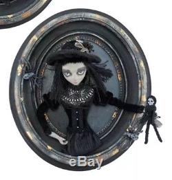 Katherine's Collection Spooky Gothic Halloween Girl 3D Oval Frame Wall NEW