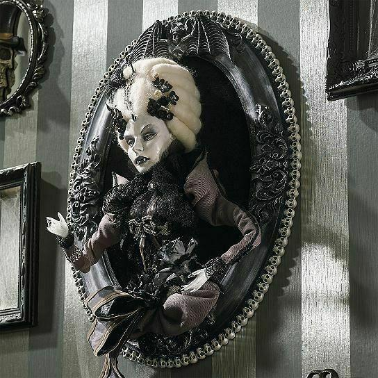 Katherine's Collection Vampire Countess 3-d Portrait Wall Hanging Retired