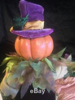 Katherine's Collection Wayne Kleski Hayden Pumpkin Scarecrow Doll 20 RARE