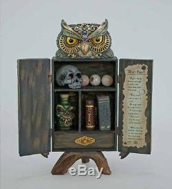 Katherine's collection Halloween owl potion witch cabinet & whats inside 18