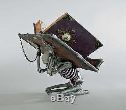 Katherine's collection Halloween skeleton holder & spellbook Witch Spellbound