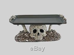 Katherine's collection Halloween skeleton tray skull hands Forest Cemetery 17