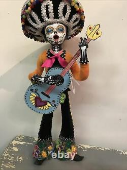 Katherines Collection Day Of Dead Guitar Player New
