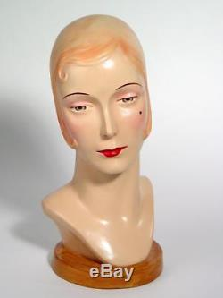 Katherines Collection Hand-Painted 1920s Deco Style Mannequin Head 28-28000