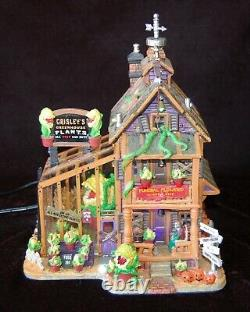LEMAX Spooky Town Grisley's Greenhouse Lights Sound WORKS GREAT