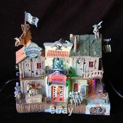 LEMAX Spooky Town Pirate's Pub & Grub Animation Lights Sounds WORKS! Retired