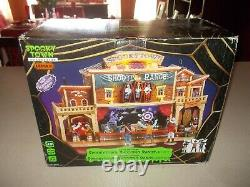 LEMAX Spooky Town SHOOTING RANGE Lighted Animated Halloween 050103 western