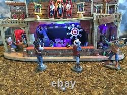 LEMAX Spooky Town SHOOTING RANGE Lighted Animated Halloween Village WORKS MIB