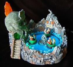 LEMAX Spooky Town Skull River Ride #24469 Animated Lights Sounds WORKS! Retired