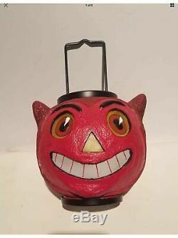 LG Vintage Devil Lantern Halloween ILLUMINATIONS Hallmark DISCONTINUE 10x25