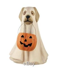 Large Spooky Ghost Dog Figure Bethany Lowe Halloween 19.5 in folk art NEW td5046