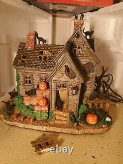 Lemax 05109 Spooky Town Vicki's Cattery Exterior Lighted Building Halloween